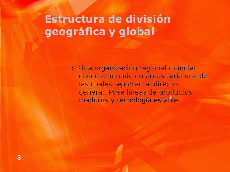 Estructura de división geográfica y global