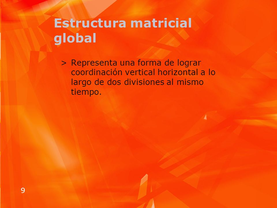 Estructura matricial global