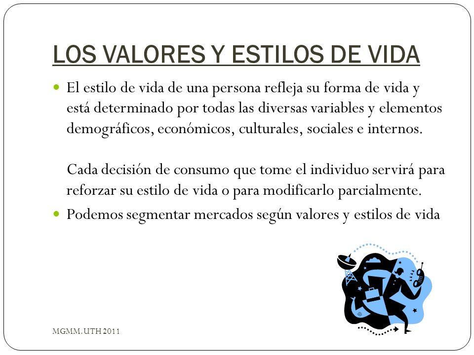 LOS VALORES Y ESTILOS DE VIDA