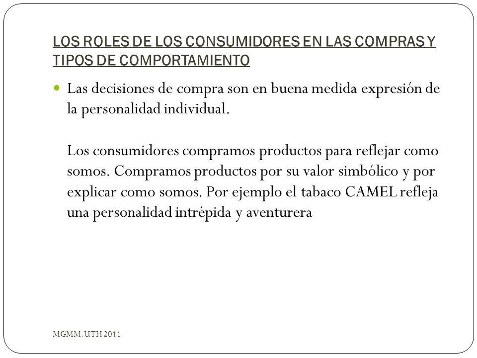 LOS ROLES DE LOS CONSUMIDORES EN LAS COMPRAS Y TIPOS DE COMPORTAMIENTO