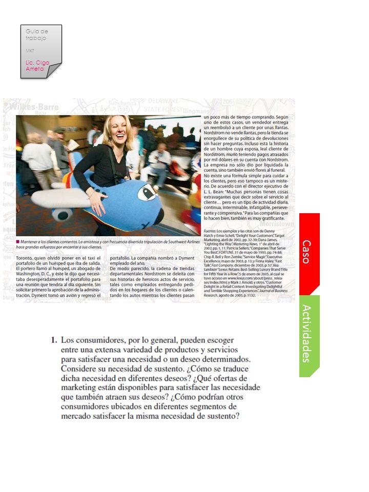 Guia de trabajo MKT Lic. Olga Arrieta Caso Actividades
