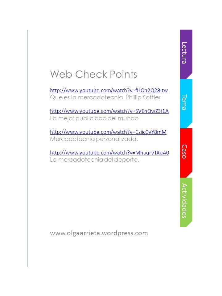 Web Check Points Lectura Tema Caso Actividades