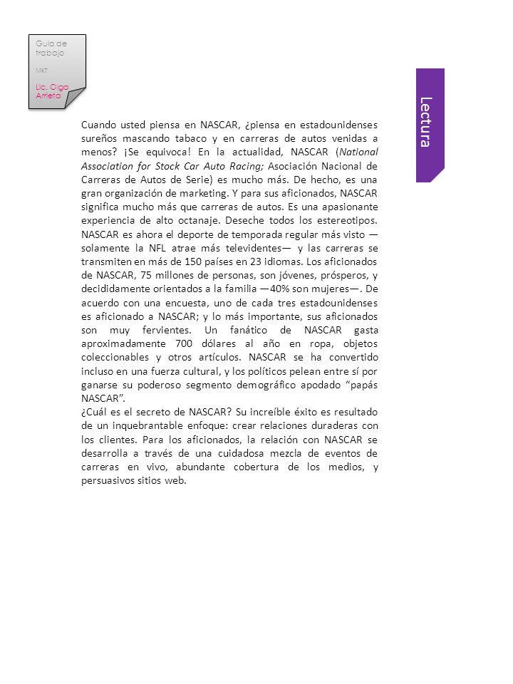 Guia de trabajo MKT. Lic. Olga Arrieta.