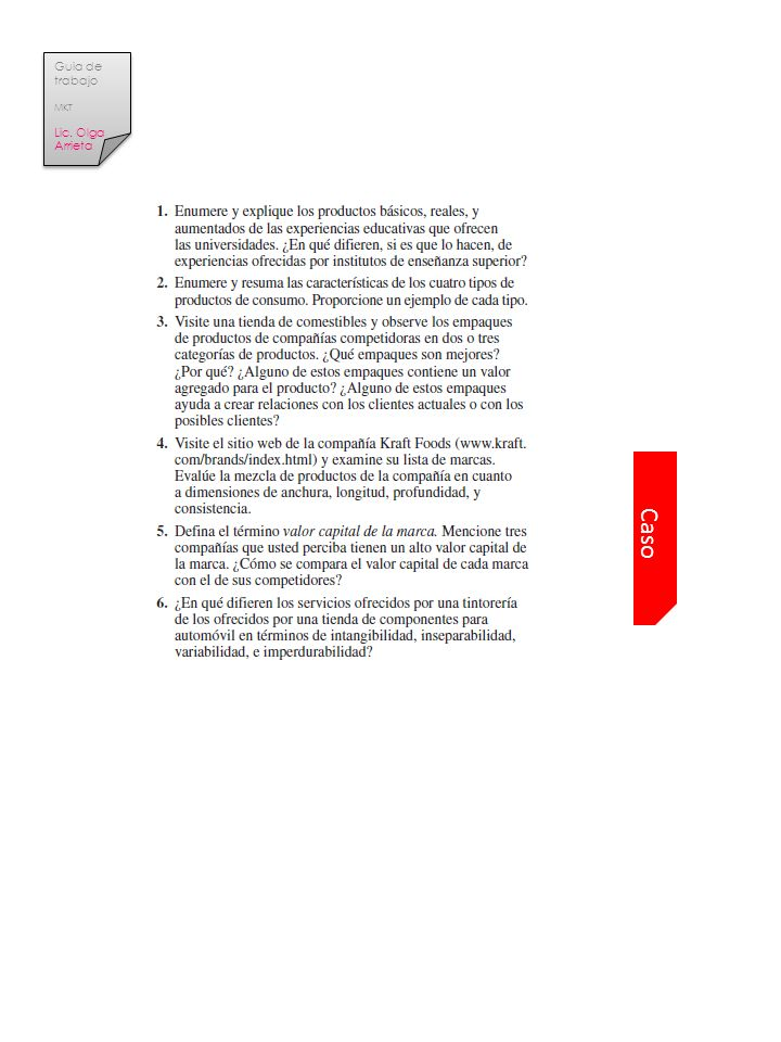 Guia de trabajo MKT Lic. Olga Arrieta Caso