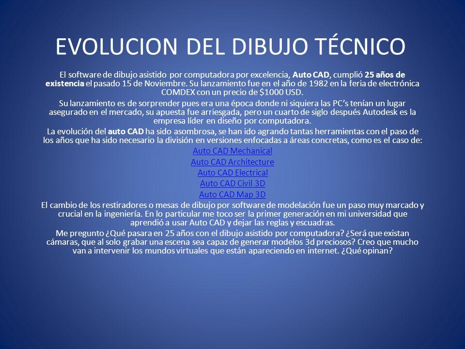 EVOLUCION DEL DIBUJO TÉCNICO