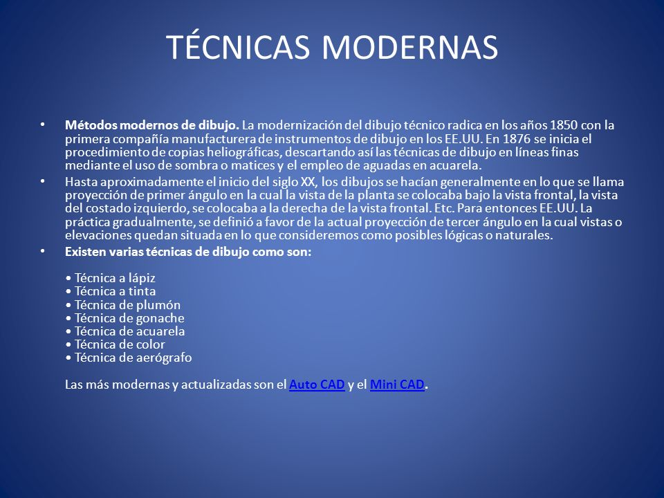 TÉCNICAS MODERNAS
