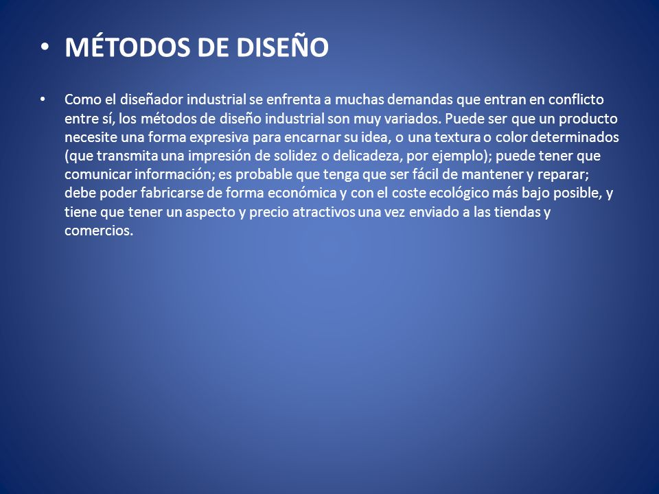 MÉTODOS DE DISEÑO