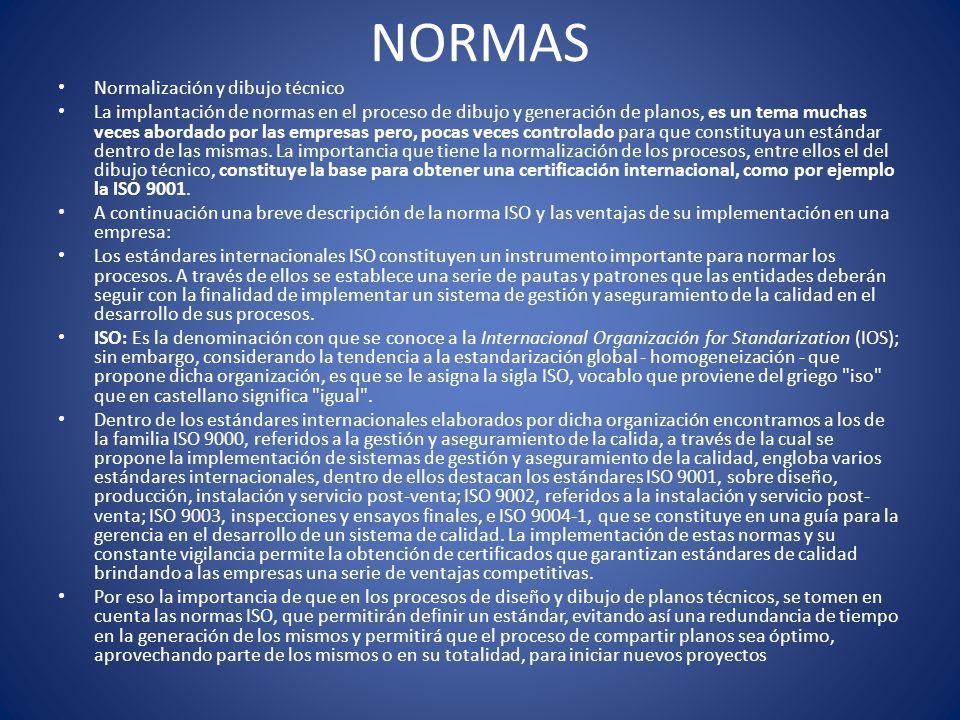 NORMAS Normalización y dibujo técnico