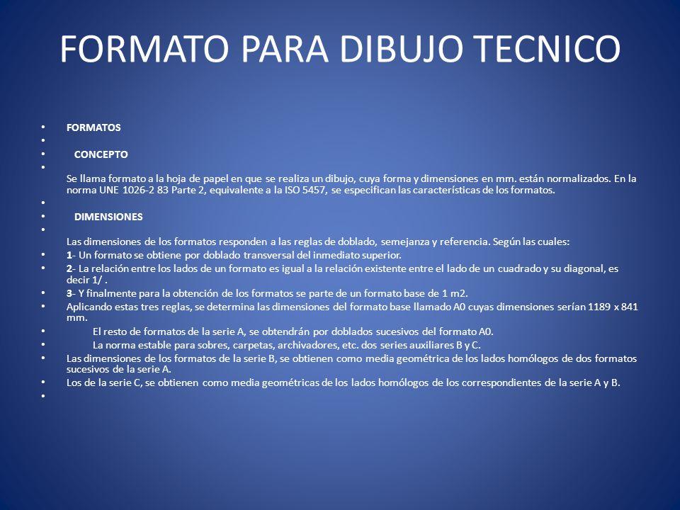 FORMATO PARA DIBUJO TECNICO