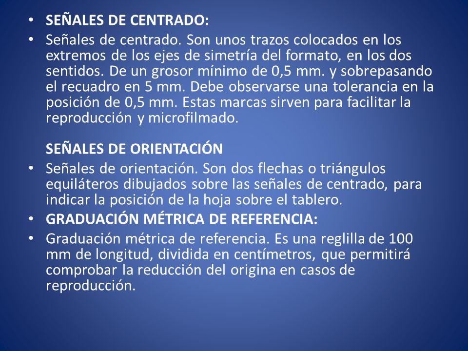 SEÑALES DE CENTRADO: