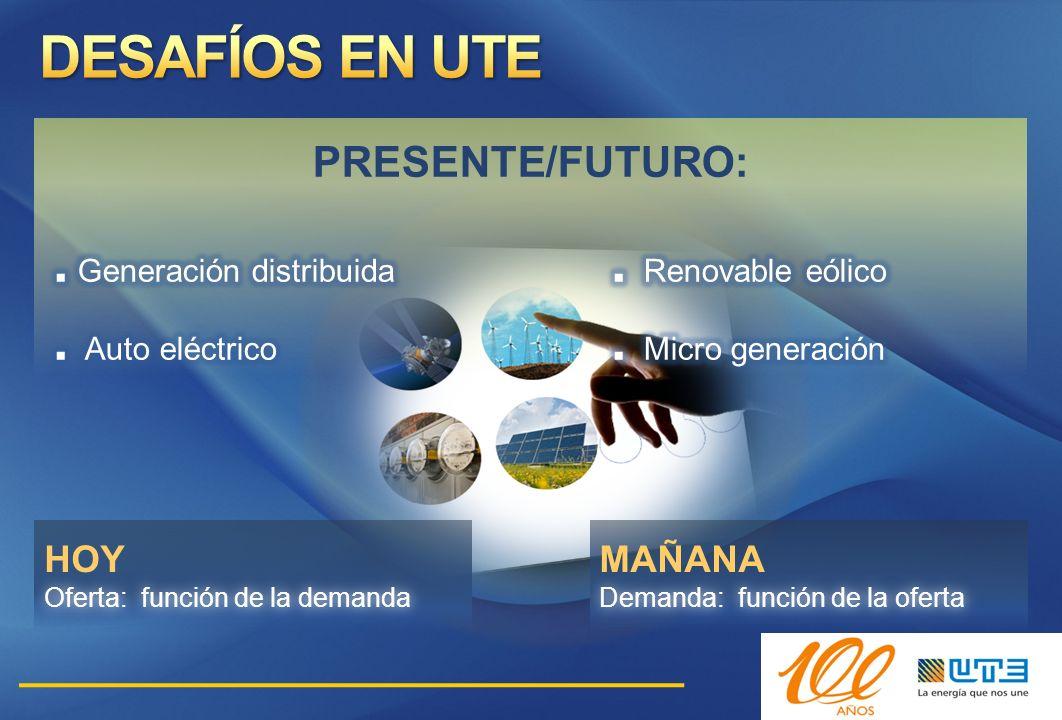 DESAFÍOS EN UTE PRESENTE/FUTURO: HOY MAÑANA