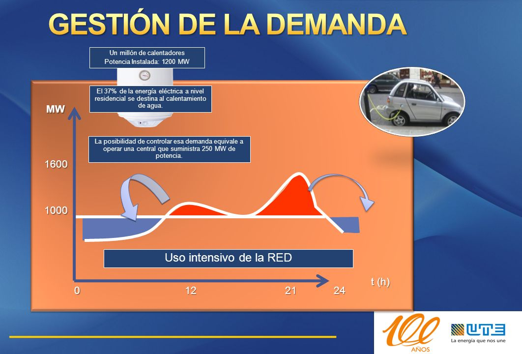 GESTIÓN DE LA DEMANDA Uso intensivo de la RED 12 21 24 MW 1600 1000