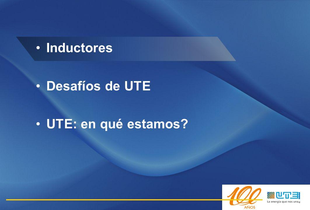 Inductores Desafíos de UTE UTE: en qué estamos 6