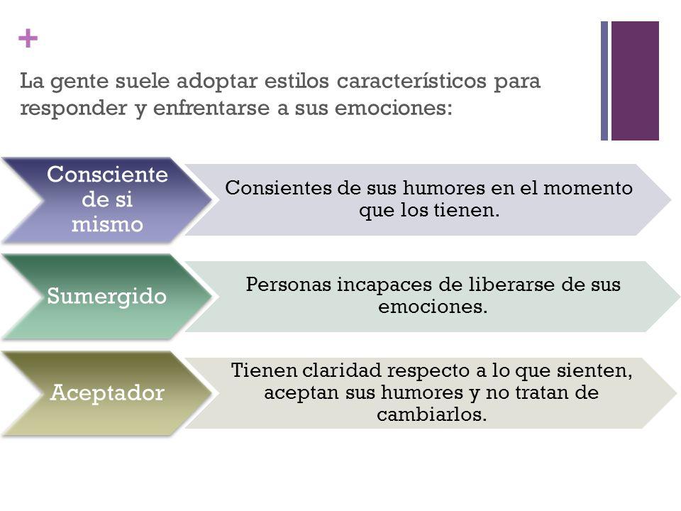 La gente suele adoptar estilos característicos para responder y enfrentarse a sus emociones: