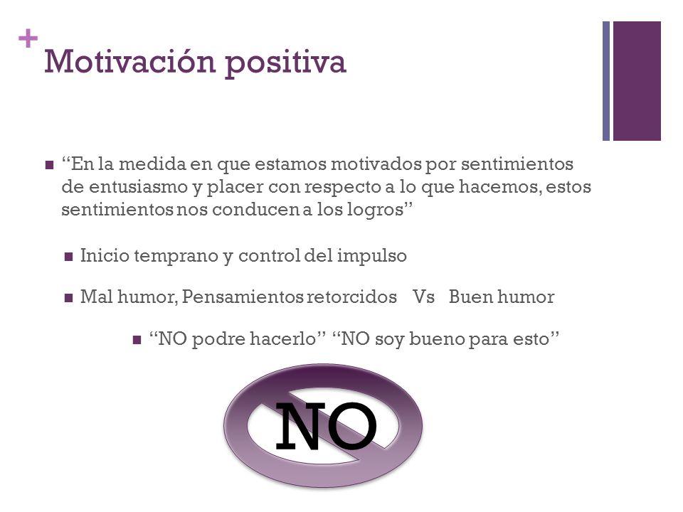 NO Motivación positiva