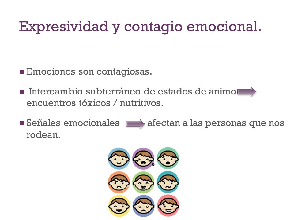 Expresividad y contagio emocional.
