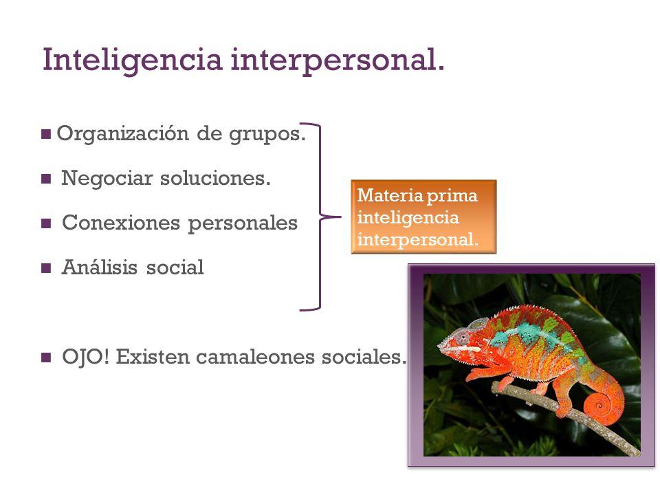 Inteligencia interpersonal.