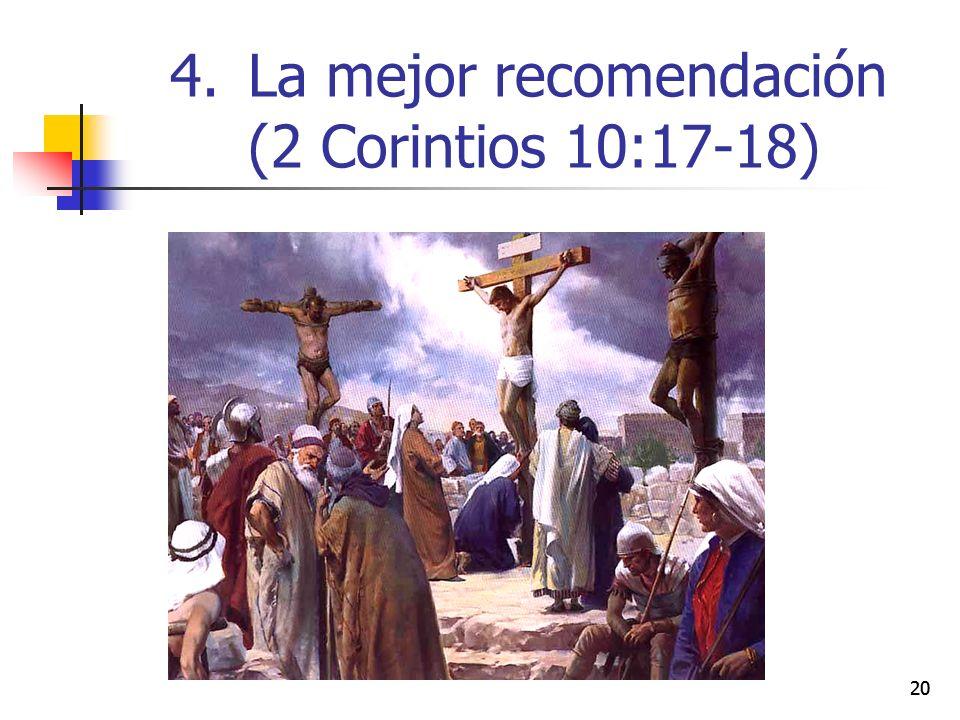 La mejor recomendación (2 Corintios 10:17-18)