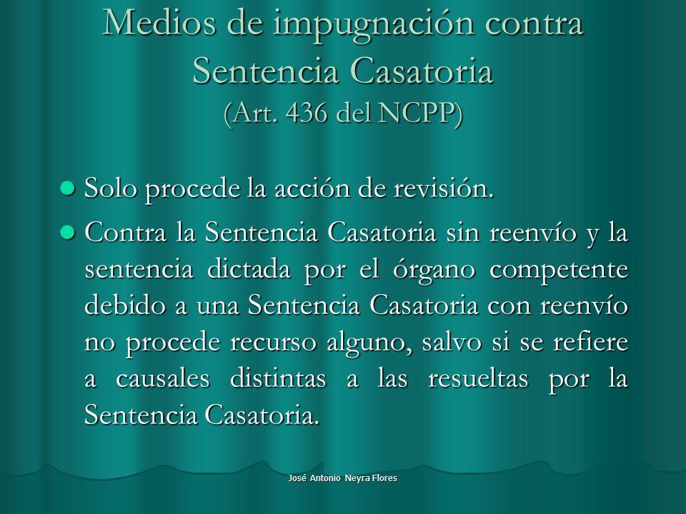 Medios de impugnación contra Sentencia Casatoria (Art. 436 del NCPP)