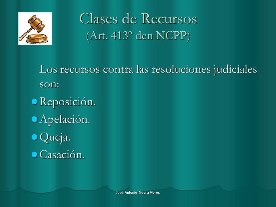 Clases de Recursos (Art. 413º den NCPP)