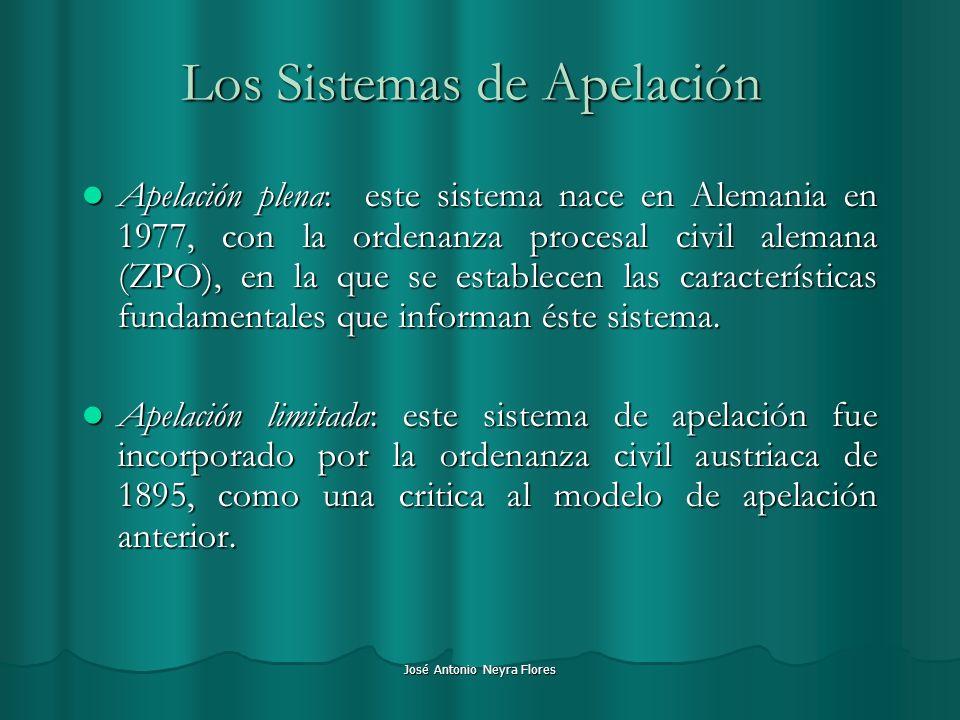 Los Sistemas de Apelación