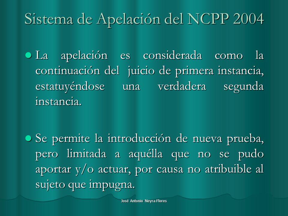 Sistema de Apelación del NCPP 2004