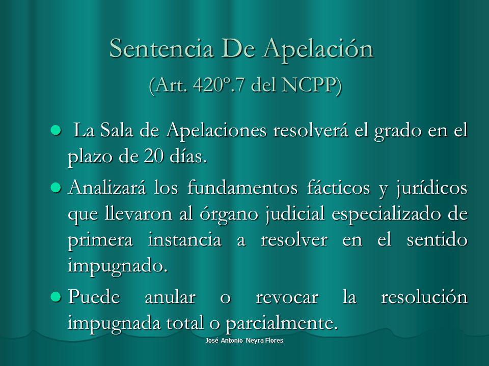 Sentencia De Apelación (Art. 420º.7 del NCPP)