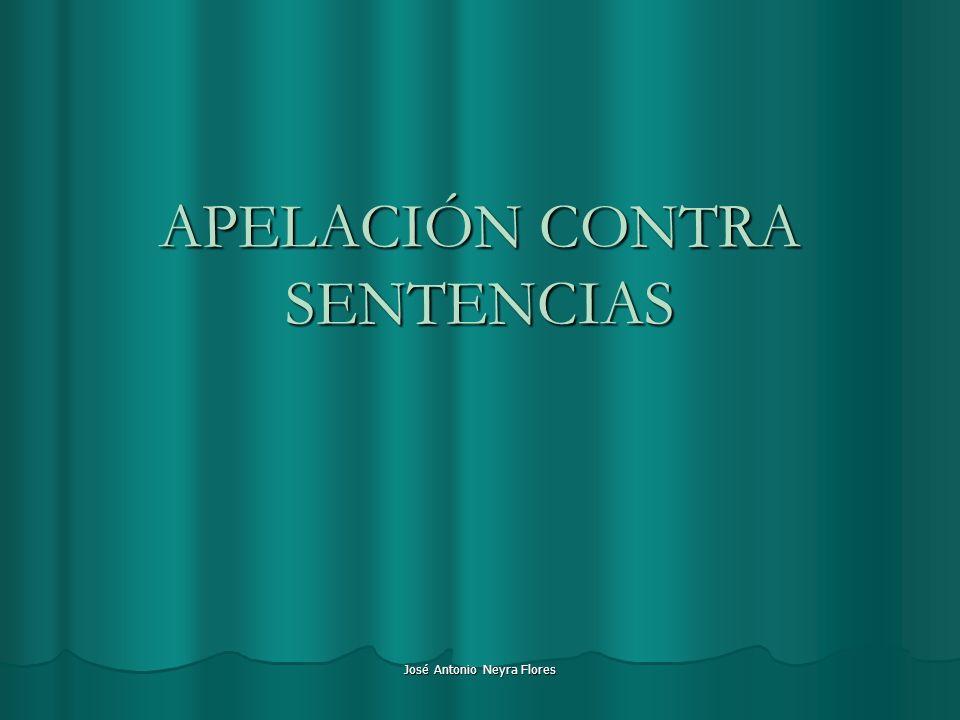 APELACIÓN CONTRA SENTENCIAS