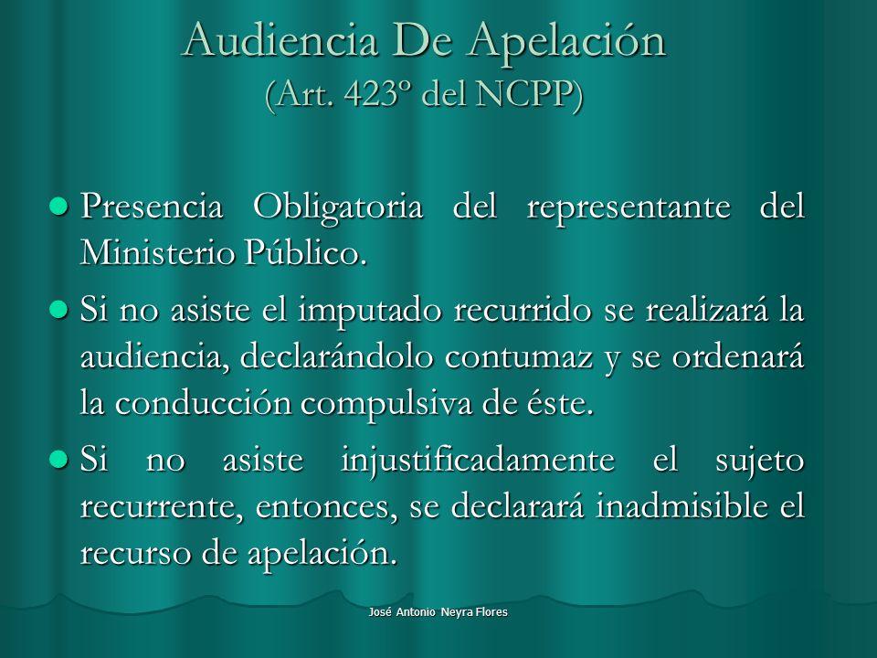 Audiencia De Apelación (Art. 423º del NCPP)