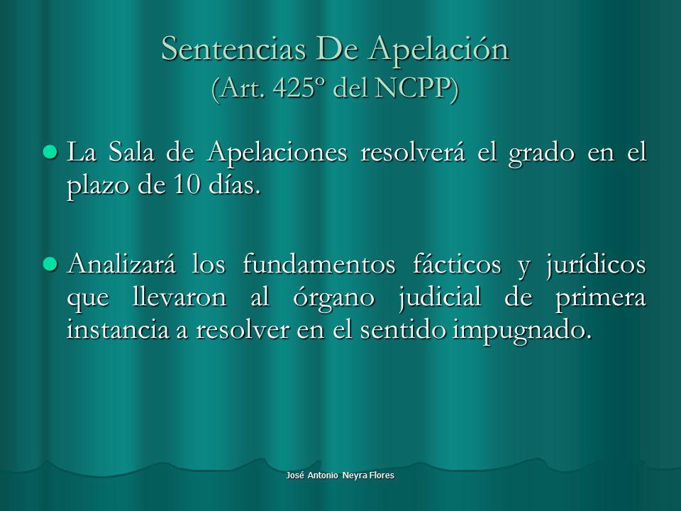 Sentencias De Apelación (Art. 425º del NCPP)