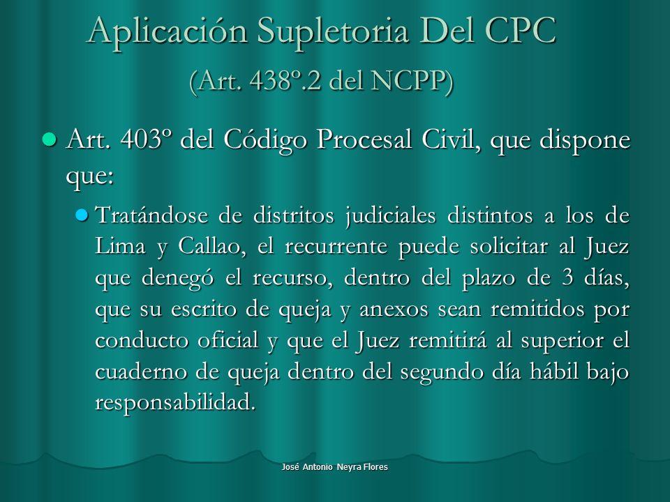 Aplicación Supletoria Del CPC (Art. 438º.2 del NCPP)