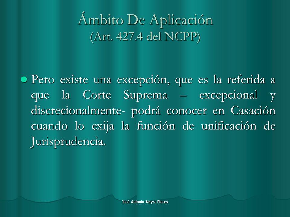 Ámbito De Aplicación (Art. 427.4 del NCPP)