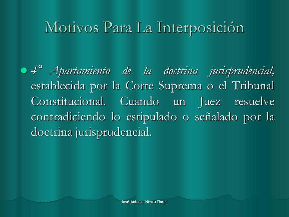 Motivos Para La Interposición
