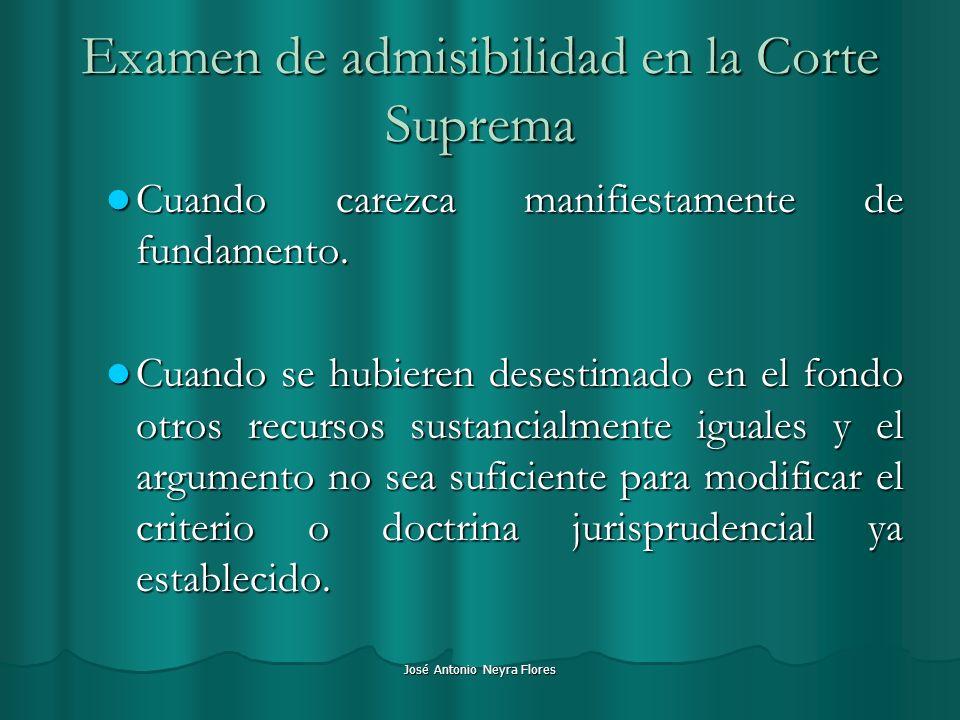 Examen de admisibilidad en la Corte Suprema