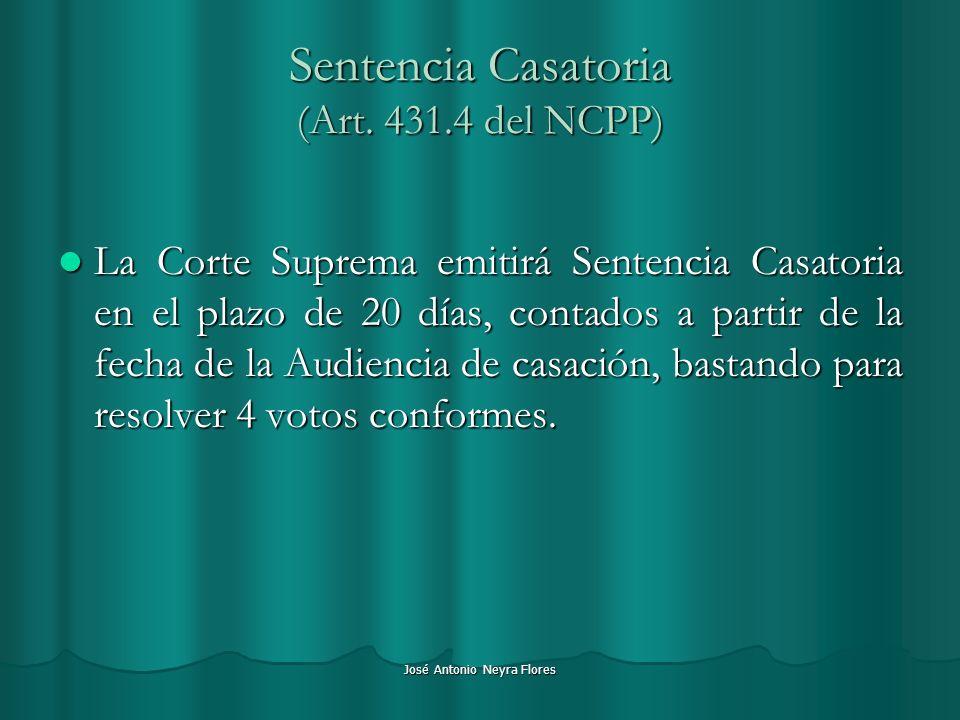 Sentencia Casatoria (Art. 431.4 del NCPP)