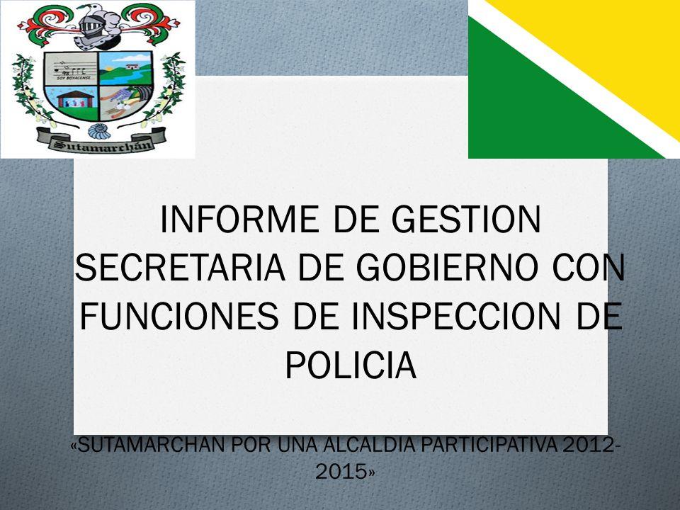 «SUTAMARCHAN POR UNA ALCALDIA PARTICIPATIVA 2012-2015»