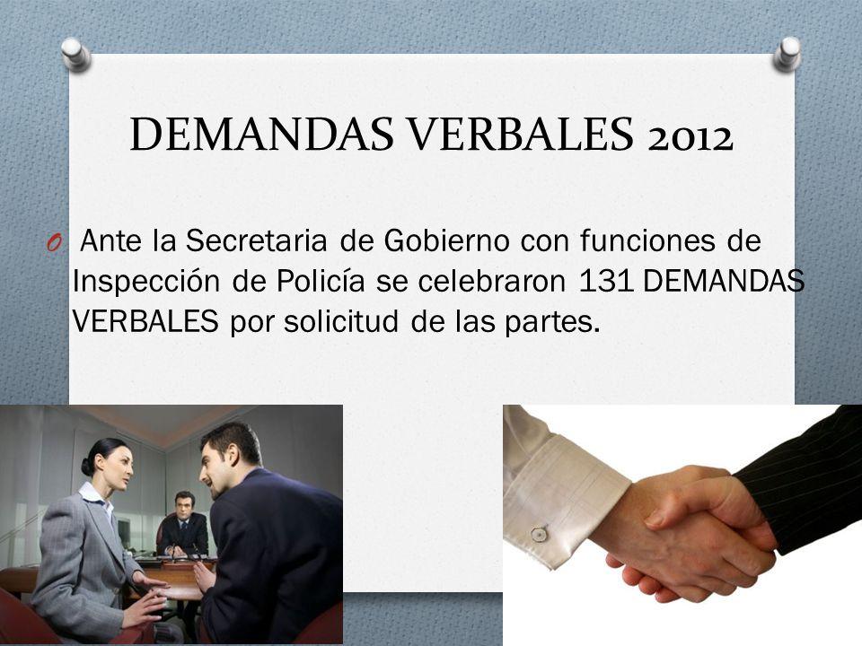 DEMANDAS VERBALES 2012