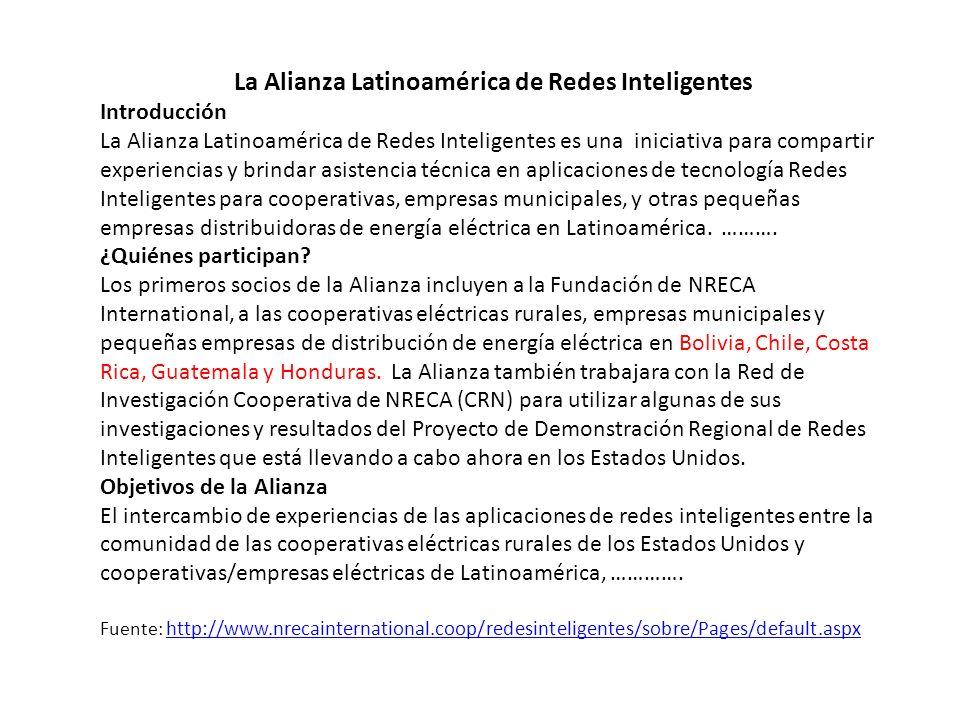 La Alianza Latinoamérica de Redes Inteligentes