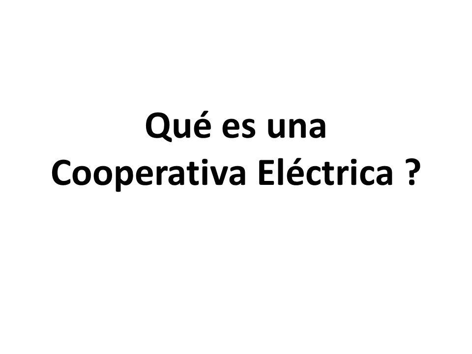 Qué es una Cooperativa Eléctrica