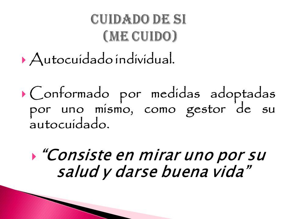 CUIDADO DE SI (ME CUIDO)