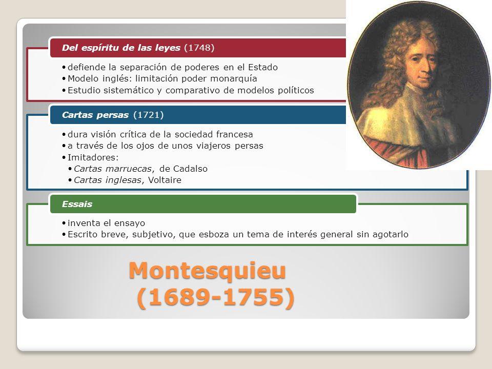 Montesquieu (1689-1755) Del espíritu de las leyes (1748)