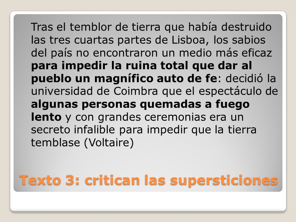 Texto 3: critican las supersticiones