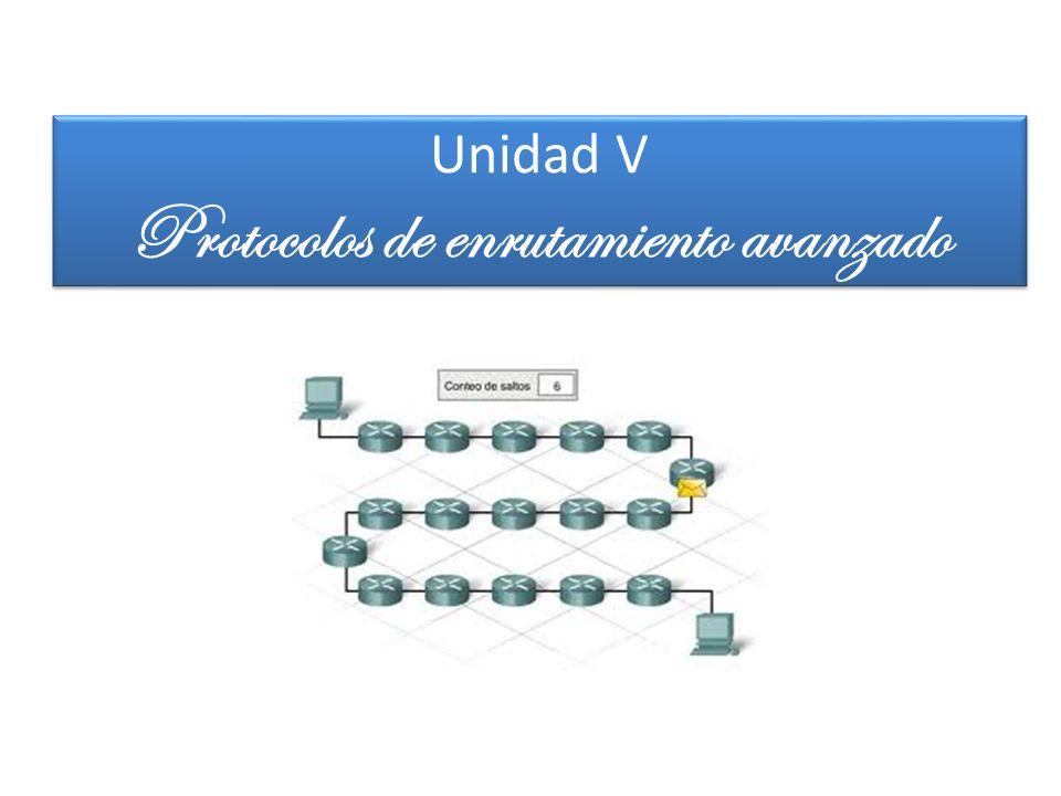 Unidad V Protocolos de enrutamiento avanzado