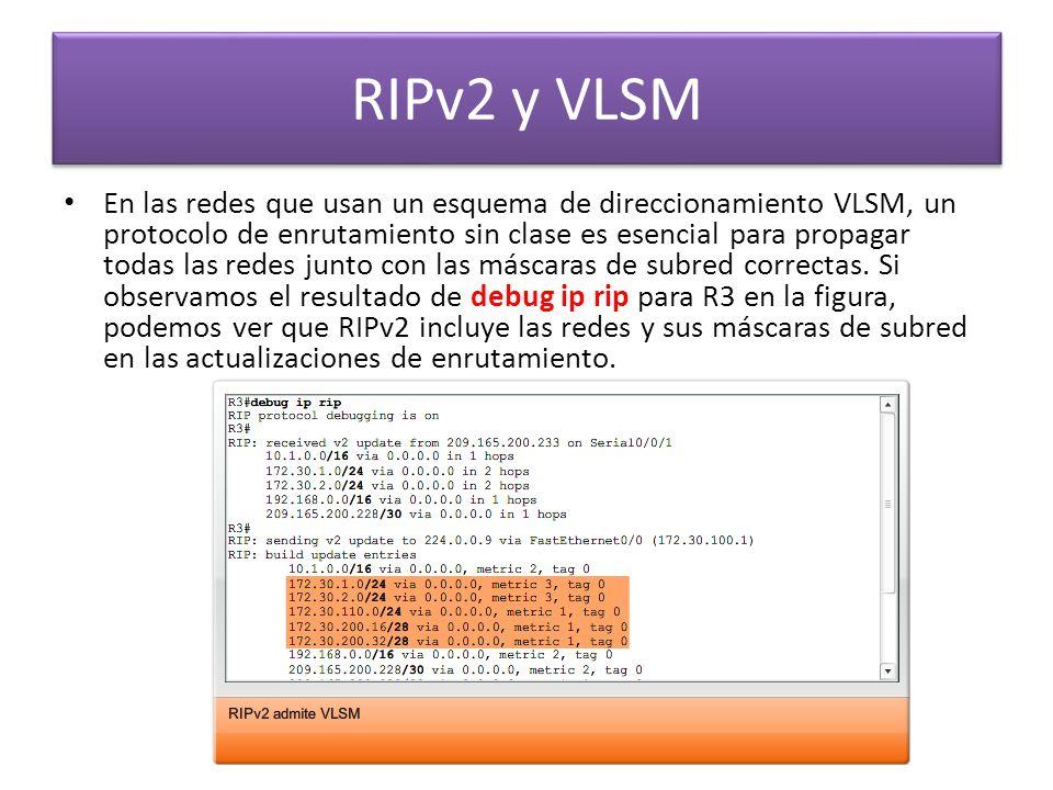 RIPv2 y VLSM