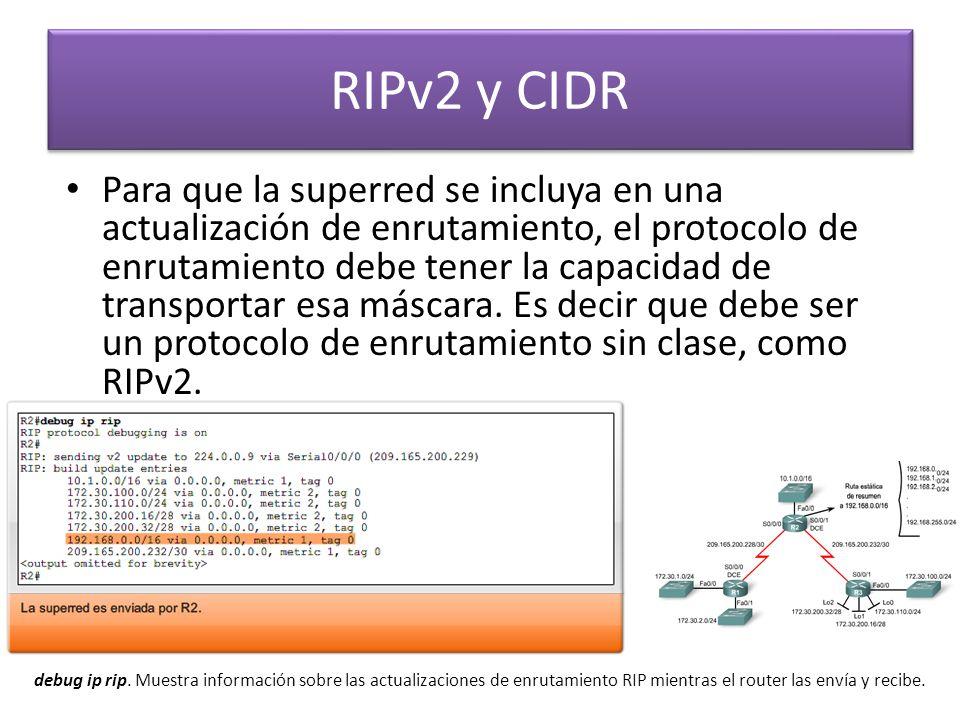 RIPv2 y CIDR
