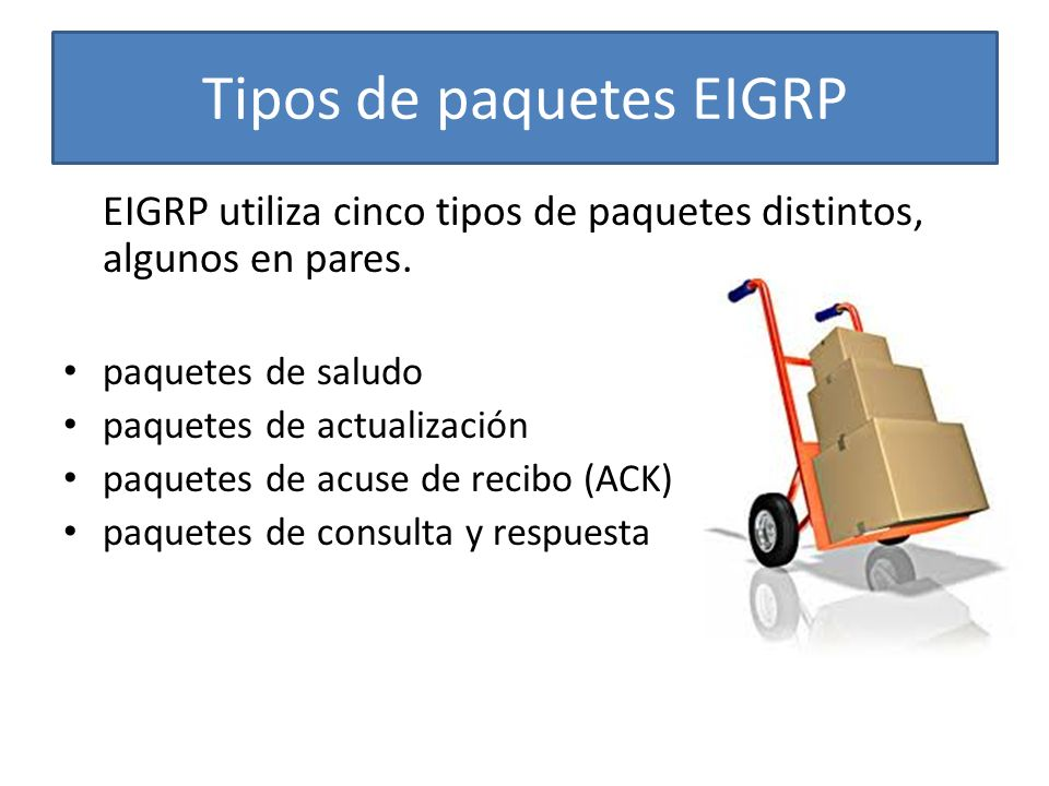 Tipos de paquetes EIGRP
