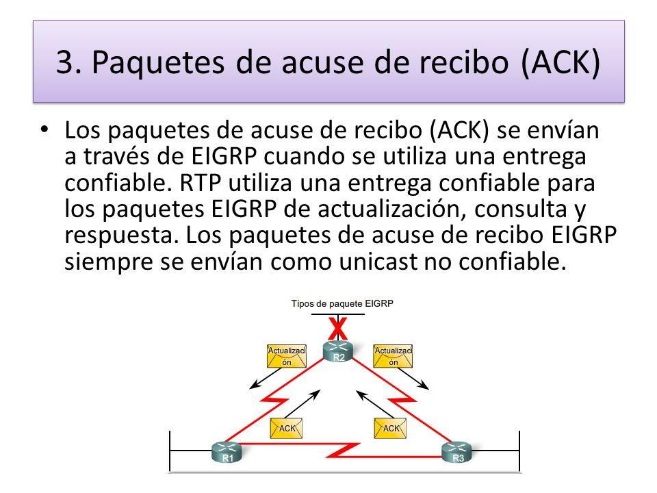 3. Paquetes de acuse de recibo (ACK)
