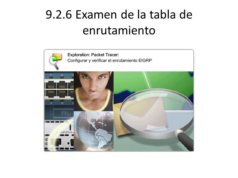 9.2.6 Examen de la tabla de enrutamiento