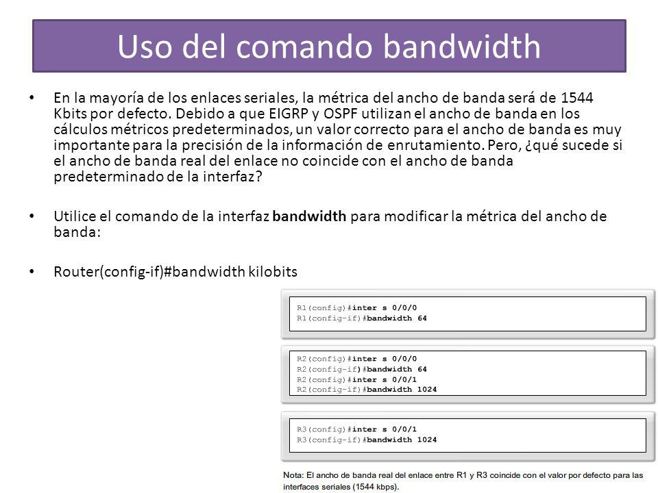 Uso del comando bandwidth