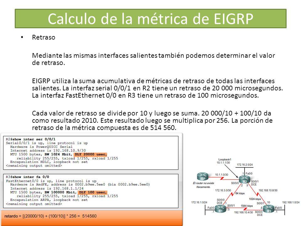 Calculo de la métrica de EIGRP